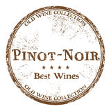 Pinot Noir grunge rubber stamp. Brown grunge rubber stamp with the text best wines, Pinot Noir, written inside the stamp Stock Image