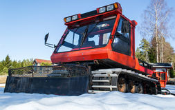 Pinot pist machine - Snow mover. This  Pinot Pist Machine s a snow grooming machine used to prepare some of the ski tracks that are in Halden. Machines like this Royalty Free Stock Photos