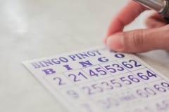 Pinoy Bingo karty zdjęcia royalty free