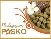 Pinoy Christmas greeting card vector illustration