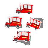 Pinoy Jeepney. Philippine jeepney sticker set style vector illustration