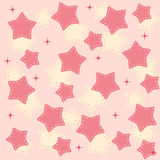 Pinr stars background vector illustration Royalty Free Stock Images
