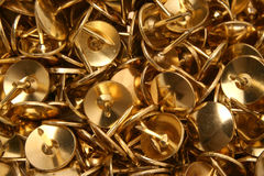 Pins. Drawing pins / thumb tacks background image, close up royalty free stock photography