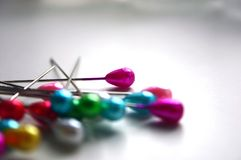 Pins. Multicolored pins Royalty Free Stock Photography