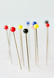 Pins. Macro shot of colorful pins with a shallow dof Stock Photography