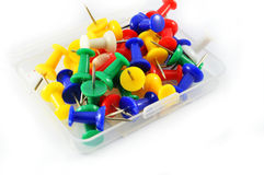 Pins in box Royalty Free Stock Photography