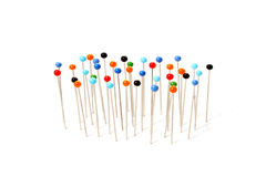 Pins with colored heads Royalty Free Stock Photo