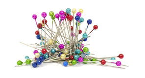 Pins with colored heads #2 Royalty Free Stock Photos