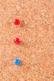 Pins on Cork Board Stock Photography