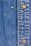 Pins on Denim Stock Image