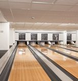Pins At The End Of Bowling Alley Stock Photography