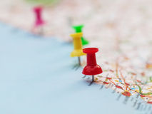 Pins on French map Stock Photography
