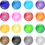 Pins icon set Royalty Free Stock Photography