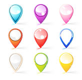 Pins for map Stock Image