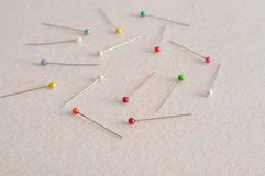Pins for needle work Royalty Free Stock Photography