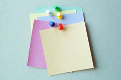 Pins with note paper Stock Photography