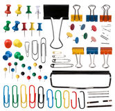 Pins and paper clips collection Stock Photography