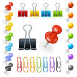 Pins and Paper Clips Collection. Vector Royalty Free Stock Images