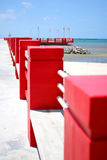 Pins of red fence Royalty Free Stock Image