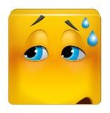 Pinsamt läge för fyrkantig emoticon stock illustrationer