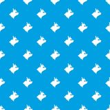 Pinscher dog pattern seamless blue Royalty Free Stock Photos