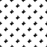 Pinscher dog pattern, simple style. Pinscher dog pattern. Simple illustration of pinscher dog vector pattern for web Royalty Free Stock Images