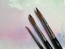 Pinsel über Wasser-Farbe Lizenzfreies Stockbild