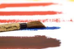 Pinsel auf Acryllack Lizenzfreie Stockbilder