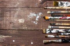 Pinsel für das Malen Stockbild