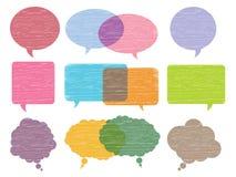 Pinsel-Gesprächs-Luftblasen Lizenzfreies Stockfoto