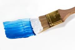 Pinsel mit Acryl Farbe Stockbilder
