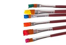 Pinsel mit Farbe Stockbild