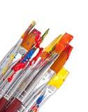 Pinsel mit Farbe Lizenzfreie Stockbilder