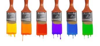 Pinsel mit verschiedenen Farben Stockfotografie