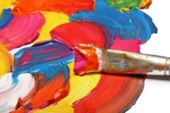 Pinsel und Auszug gemalter Hintergrund Lizenzfreie Stockbilder
