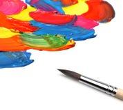 Pinsel- und Auszugsacryl gemalt Lizenzfreie Stockbilder