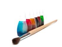 Pinsel und Färbung Lizenzfreies Stockbild