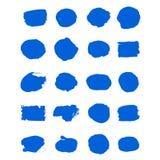 Pinselanschlag der blauen Tinte des Sammlungsvektors stellte dekorative B?rstenanschl?ge des Handgezogenen Schmutzes ein, Gestalt stock abbildung