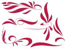 Pinstripe style set Royalty Free Stock Image