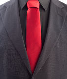 Pinstriped men's business suit Stock Photos