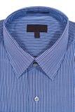 pinstriped skjorta för blå klänning Royaltyfri Fotografi