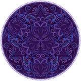 Pinstriping γύρω από το σχέδιο Φωτεινή μπλε χειμερινή διακόσμηση Στοκ Φωτογραφία