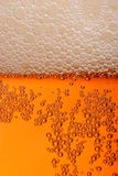 Pint. Of beer, bitter, lager with bubbles stock photo