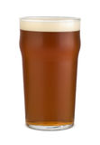 Pint of ale. English pale ale in a pint glass Royalty Free Stock Photo