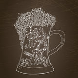 Pint of ale with hand drown inscription. Stock Image