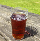 Pint of Ale. Traditional pint of real ale royalty free stock photos