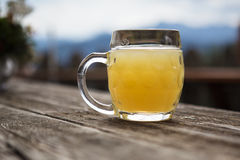 Pint of Apple Spritzer Stock Photography