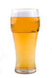 Pint of beer. Isolated on white royalty free stock images