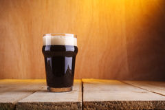 Pint beer glass Royalty Free Stock Photos