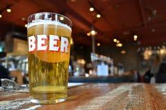 Pint beer pub Royalty Free Stock Photo